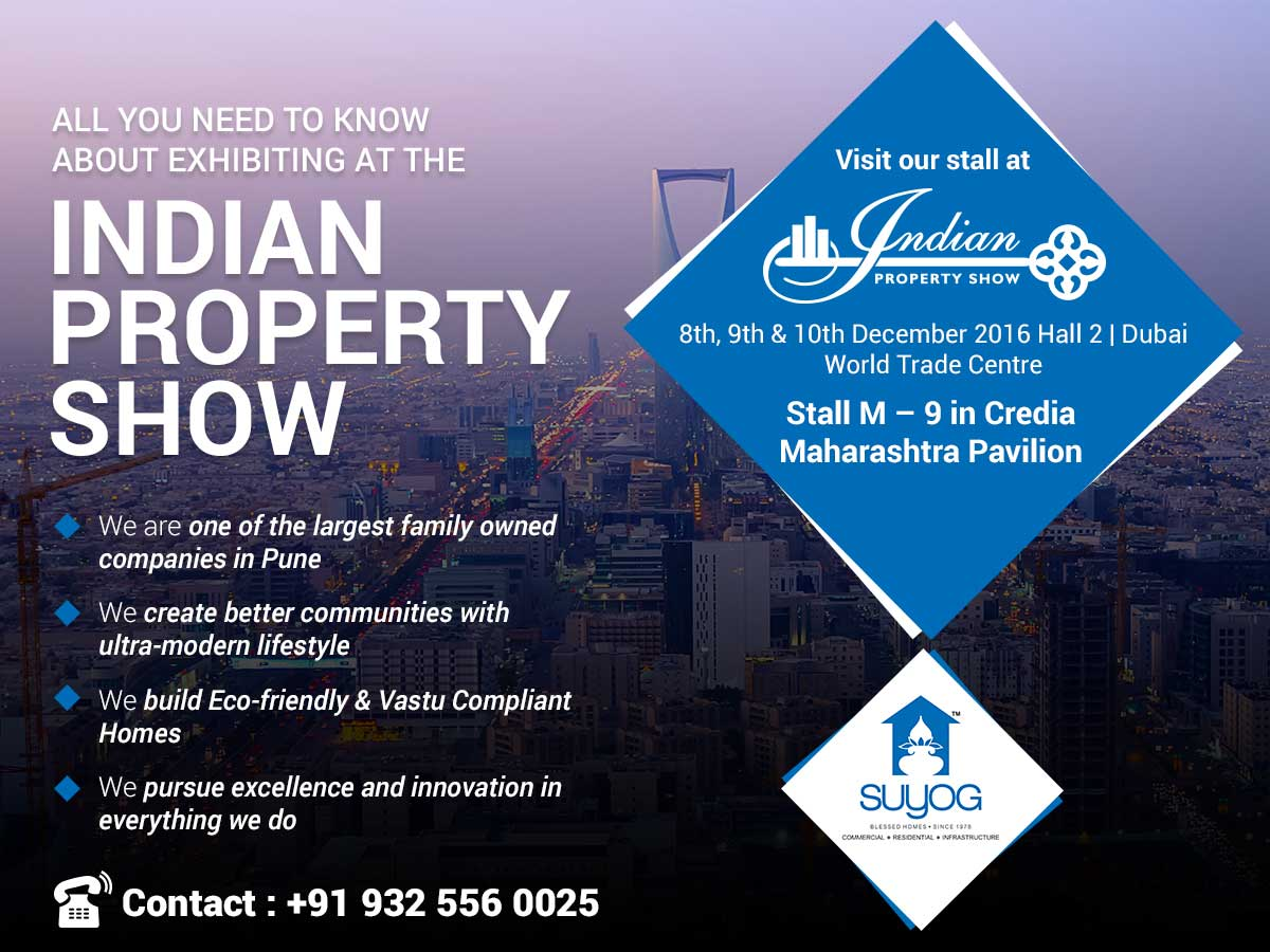 Suyog Group Participating in Indian Property Show in Dubai